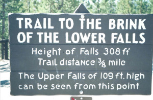 Lower Falls Sign