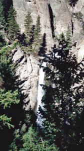 Tower Falls with Trees in the Way