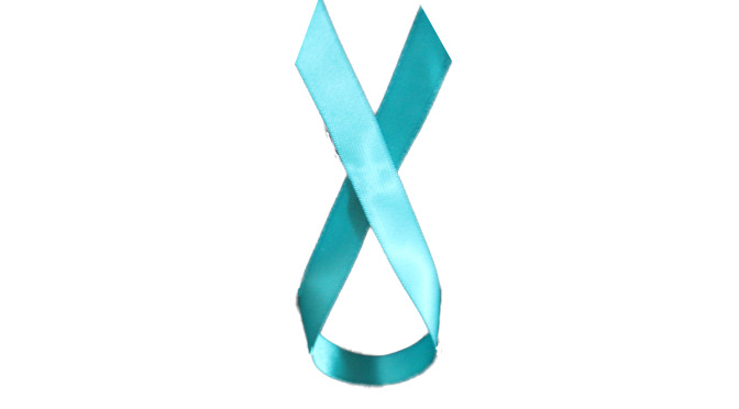 An Inverted Teal Ribbon